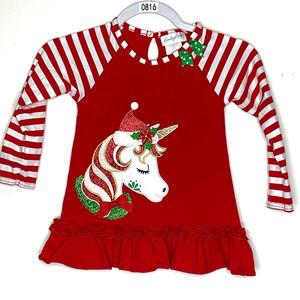 Emily Rose Christmas Unicorn Peplum Top 5